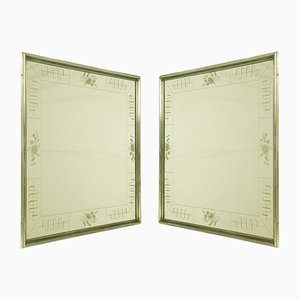 Art Deco Italian Recessed Mirrors by Enzo Tradico for Brusotti, 1930s, Set of 2
