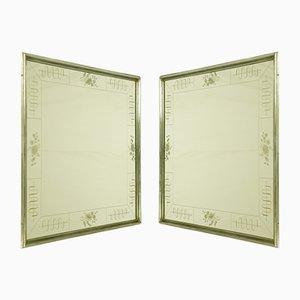 Italienische Vertiefte Art Deco Spiegel von Enzo Tradico für Brusotti, 1930er, 2er Set