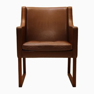 Mid-Century Danish Leather Armchair by Børge Mogensen for Fredericia