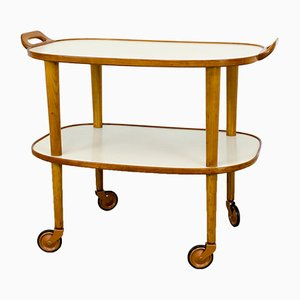 Cherry & Laminate Serving Cart, 1950s