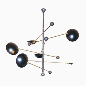Six-Arm Suspension Light by Franco Mariotti for Edizioni Flair