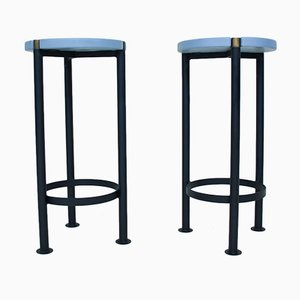 Brutalist Bar Stools, Set of 2