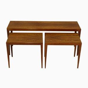 Table Gigogne Vintage en Palissandre par Severin Hansen pour Haslev