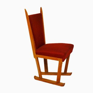 Chaise de Bureau Mid-Century par C. de Jong J.A. Boskamp & Zn. Overveen