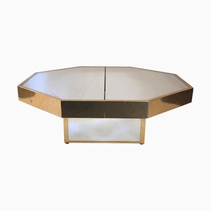 Table Basse Vintage Octogonale, Italie,1970s