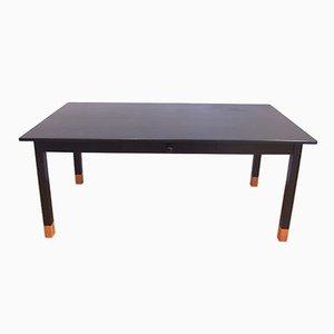 Tavolo da monastero vintage in legno nero