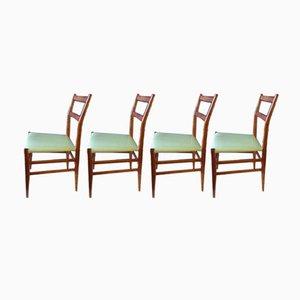 Modell 646/3 Stühle von Gio Ponti für Cassina, 1954, 4er Set
