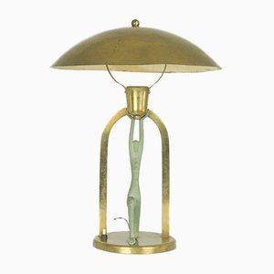Lámpara de mesa Art Déco vintage con figura estilizada