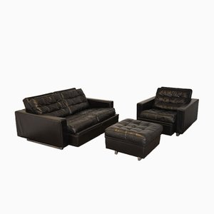 Conjunto de sofá reclinable DS 3A New Yorker de de Sede, años 70