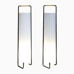 Französische Plexiglas Lampen, 1950er, 2er Set