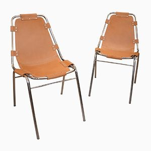 Les Arcs Chairs by Charlotte Perriand, 1970s, Set of 2