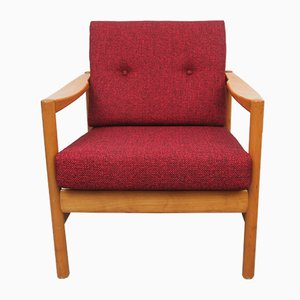 Sessel mit Roten Kissen, 1960er
