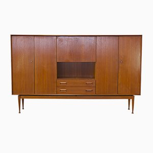 Teak Cabinet with a Flap Door, 1960s