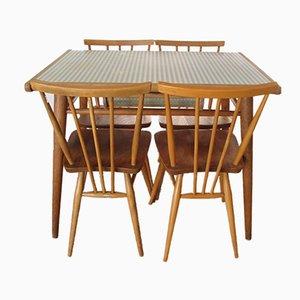 Mesa y cuatro sillas de formica de Lucian Ercolani para Ercol, años 60
