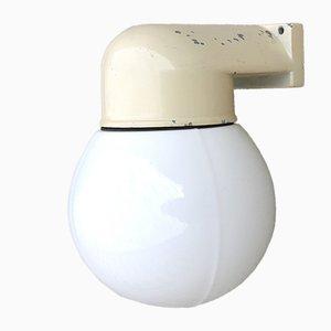 Lámpara de pared industrial vintage esférica, años 50