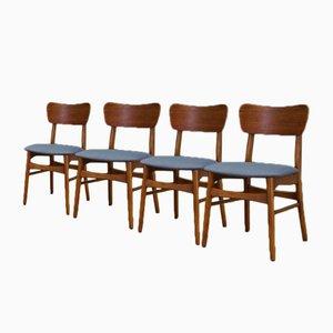 Mid-Century Teak Esszimmerstühle, 1960er, 4er Set
