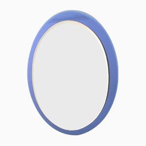 Italienischer Spiegel mit Blauem Glasrahmen
