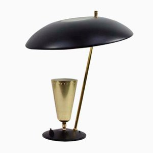 Lampada da tavolo riflessa vintage di Aluminor, Francia, anni '50