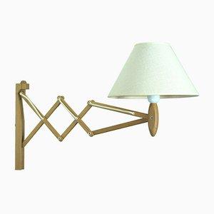 Lámpara de pared modelo 324 vintage de roble de Erik Hansen para Le Klint