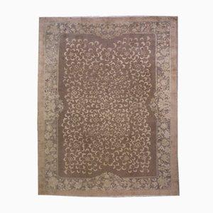 Handgemachter Antiker Chinesischer Fete Teppich, 1910er