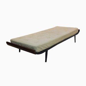 Sofá cama Cleopatra vintage con colchón de cuero de Dick Cordemeijer para Auping