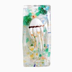 Fermacarte con polipo in vetro di Murano di Sergio Rossi, anni '70
