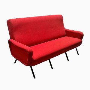 Rotes Italienisches Sofa, 1960er