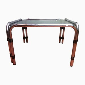 Coffee Table with Smoked Glass Top, 1960s