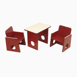 Tavolo e sedie da bambino, anni '10