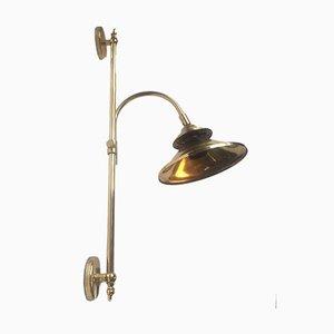 Lámpara danesa grande regulable de latón de Dansa, años 70