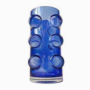 Moderne Blaue Pablo Glasvase von Erkkitapio Siiroinen für Riihimäen lasi, 1970er