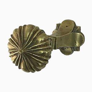 Perchero austriaco Mid-Century de bronce
