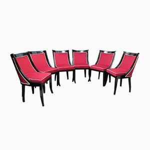 Französische Stühle, 1940er, 6er Set