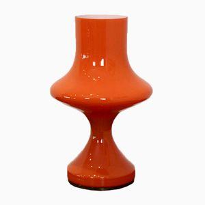 Orange Glas Tischlampe von Venini, 1960er