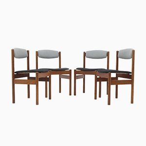 Danish Oak Dining Chairs from FDB Møbler, 1960s, Set of 4