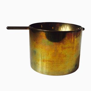 Large Cylinda Line Brass Cigar Ashtray by Arne Jacobsen for Stelton, 1967