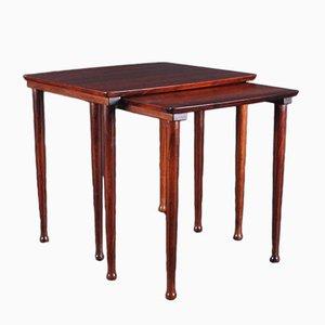 Tavolini a incastro in palissandro di Møbelintarsia, Danimarca, anni '60