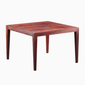 Square Rosewood Coffee Table by Severin Hansen for Haslev, 1960s