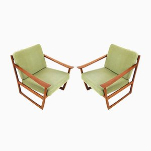 Danish FD 130 Teak Easy Chairs by Peter Hvidt & Orla Mølgaard-Nielsen for France & Søn, 1961, Set of 2