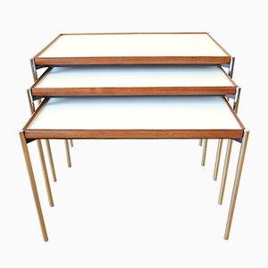 Tavolini a incastro modello 125 con superficie double face di Lämmle & Co., anni '60