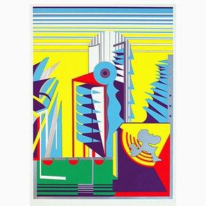 Serigrafía Relais Alpha con 8 colores de Gerd Struckmeier, 1969