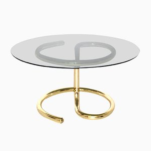 Mid-Century Brass and Glass Coffee Table, 1970