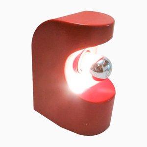 Lampada da tavolo rossa, anni '60