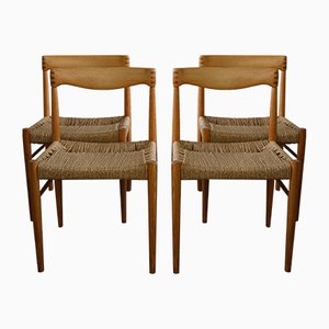 Chaises d'Appoint Mid-Century par H.W. Klein pour Bramin, Danemark, 1960s, Set de 4