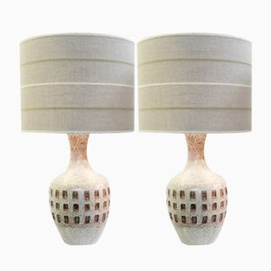Italian Ceramic Lamps, 1960s, Set of 2