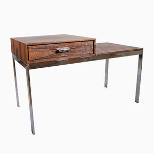 Mid-Century Metal and Wood Alpacka Bench with Drawer by Gillis Lundgren for Ikea, 1960s