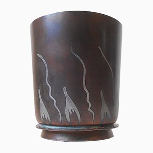 Art Deco Danish Metallurgy Vase from G&C Copenhagen, 1921