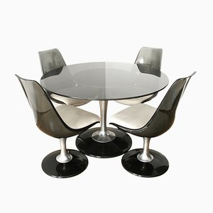Space Age Marquise Dining Set from Chromcraft, 1970s