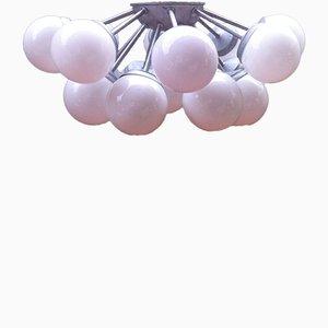 Plafonnier à 17 Éclairages Sputnik et Installation Encastrée, Espagne,1960s