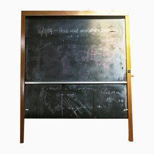 Scottish Large School Revolving Roll Blackboard from Wilson and Garden, 1950s